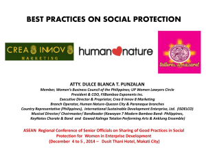 Annex 21 - Best Practices Social Protection Crea8 Innov8