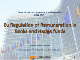 EU Regulation of Remuneration