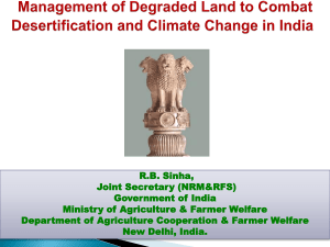 Land Degradation Neutralization in India
