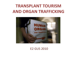 transplant tourism and organ trafficking