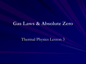 Thermal Physics 3 - Gas Laws