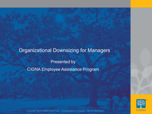 Organizational Downsizing for Managers