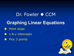 Linear Equations: How to Graph and Solve