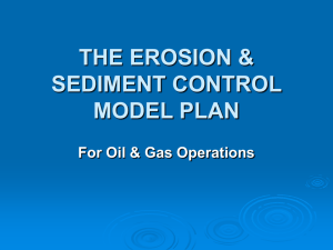Erosion and Sediment Control Model Plan