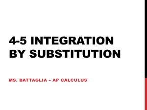 4-5 Integration by Substitution