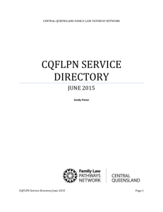 cqflpn service directory - Queensland Family Law Pathways Network