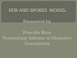 hub and spokes model - GLOBIZTEC CONSULTANTS