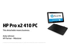 HP Pro X2-410G1 Specifications.ppt