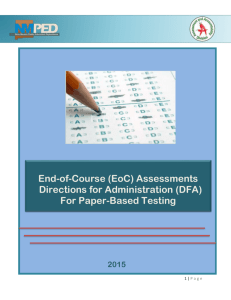 (EoC) Assessments - New Mexico State Department of Education