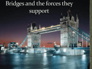 Bridges and the forces they support