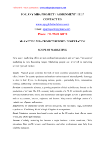 MBA Project Report on marketing and finance