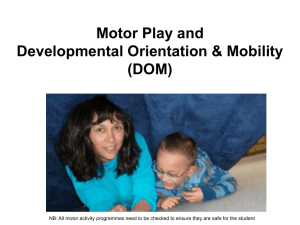 Motor play and Developmental Orientation & Mobility (DOM)