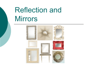 Reflection and Plane Mirrors