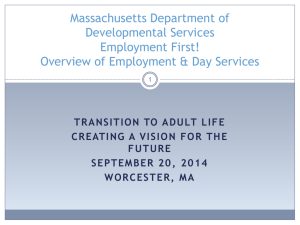 Overview of Employment & Day Services