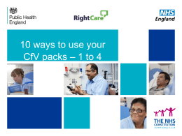 10 ways to use your CfV packs * 1 to 4