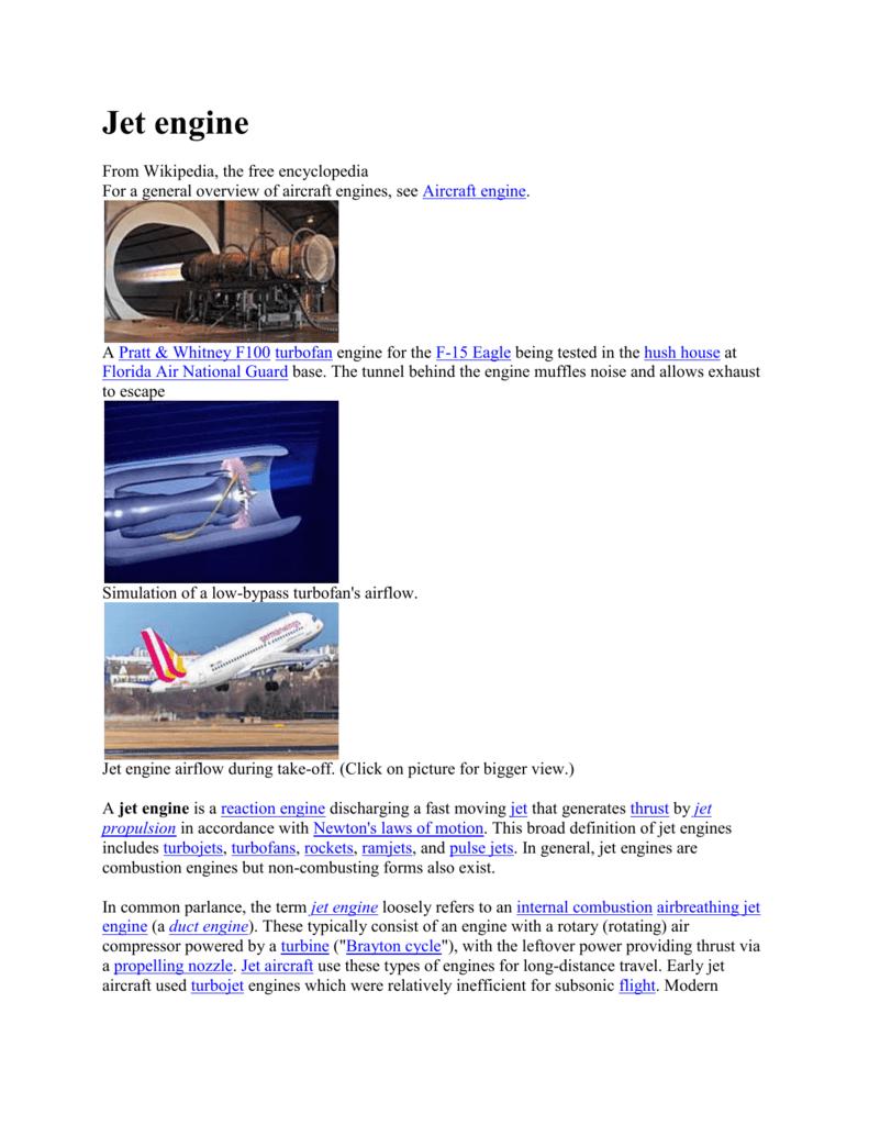 Article Airbreathing Jet Engine 747 Diagram Turbojet
