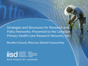 networked - International Institute for Sustainable Development
