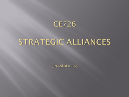 STRATEGIC ALLIANCES Şinasi