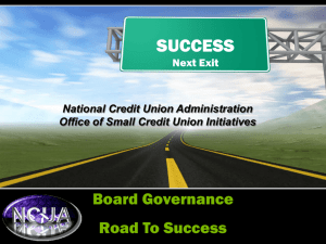 Board Governance Road to Success