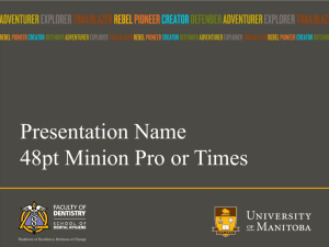 Institutional Template - University of Manitoba