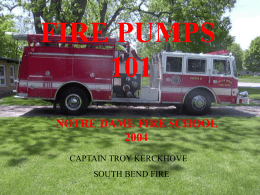 fire pumps 101 - Fire Engineering Training Community