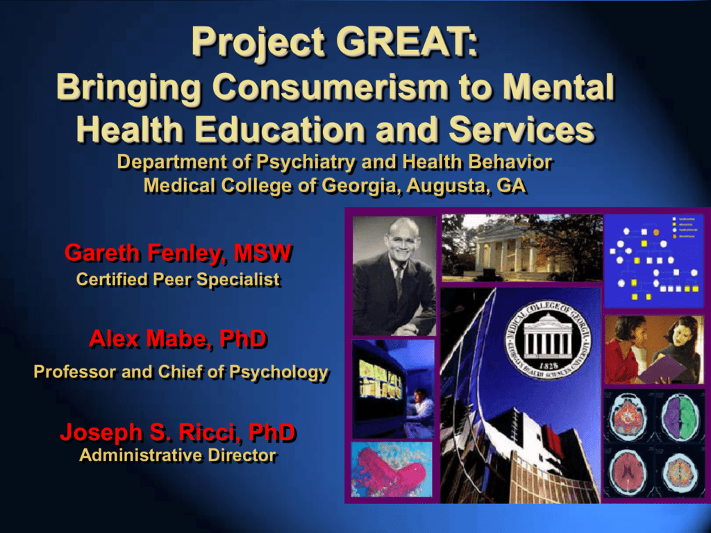 Project Great Bringing Consumerism To Mental Health Education