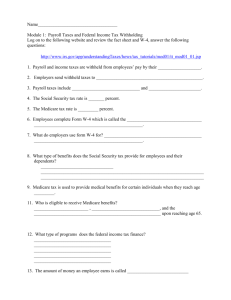 Tax tutorial worksheet