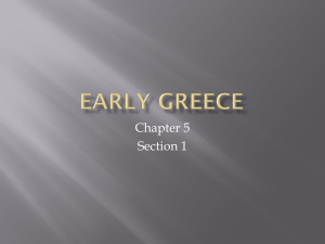 113 Chapter 5 section 1 Early Greece