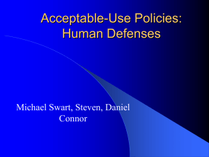 Acceptable-Use Policies: Human Defenses