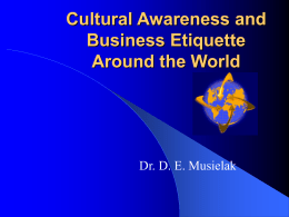 Cultural Awareness and Business Etiquette Around the World