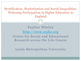 - Society for Research into Higher Education