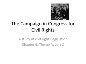 The Campaign in Congress for Civil Rights