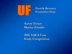 University of Florida - American Agricultural Economics Association