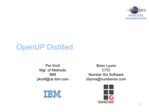 Open Unified Process Distilled