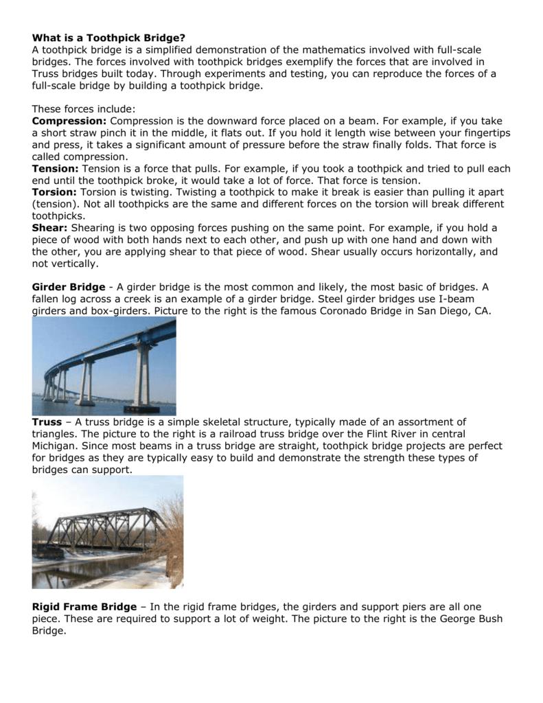 What Is A Toothpick Bridge Truss Diagram Beam