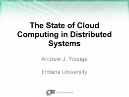 The State of Cloud Computing in Distributed