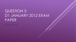 D1 Jan 2012 Q3 Powerpoint explaining solution