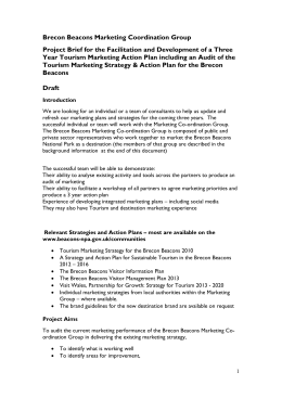 Brecon Beacons Marketing Coordination Group Project Brief for the