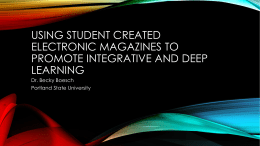 USING Student created electronic magazines to promote integrative