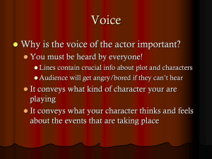 Voice for the Actor