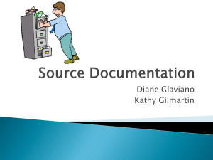 Source Documentation, CRFs, and Electronic Records