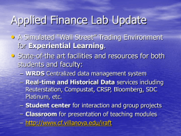 Proposed Master of Science in Finance