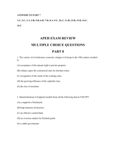 apeh exam review multiple choice questions part 8