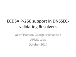 ECC support in DNSSEC-validating Resolvers - Labs