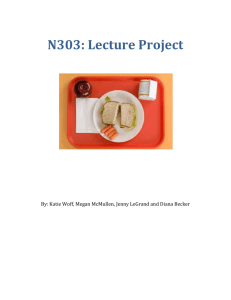N303: Lecture Project