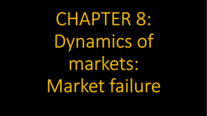 CHAPTER 8: Dynamics of markets: Market failure