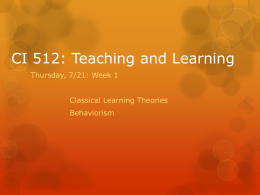 Day 2 Behaviorism - CI512