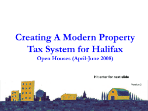 Tax Reform Presentation - Halifax Regional Municipality
