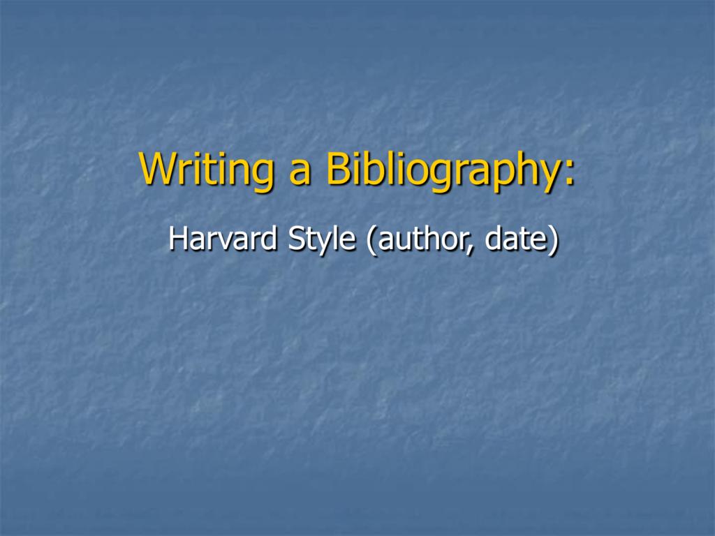 Harvard bibliography style latex — 1