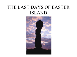 THE LAST DAYS OF EASTER ISLAND